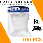 100 Face Shields with headband protective layer peel before use Clear FREE SHIP