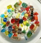 LOT OF 32 PIECES VTG MURANO HAND BLOWN ART GLASS WRAPPED CANDY CANDIES EUC
