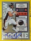 Panini Confirms 2010 Playoff Contenders Tim Tebow Inscription Variations 16