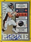 Panini Confirms 2010 Playoff Contenders Tim Tebow Inscription Variations 12