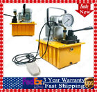 10000 PSI Electric Hydraulic Double Circuit Oil Pump Tubing 110V Handle Control
