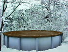 24 Round Above Ground Winter Swimming Pool Solid Cover 10 Yr Warranty solid