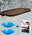 15x30 Above Ground Winter Pool Cover + 4x4 Air Pillow + Winterizing Kit