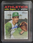 AUTOGRAPH 2020 Topps Heritage Rollie Fingers Real One Blue Ink
