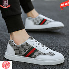 Leather Golden Luxury Running Shoes Mens Casual Shoes White Skate Sneakers Men