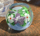 Vintage paperweight faceted by orient and flume signed