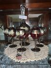 gold and platinum murano full wine set from Italy