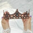 Casdre Crystal Baroque Crown Rose Gold Vintage Queen Crown Pearl Party Prom W