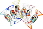 IMIKEYA 6pcs Vintage Murano Style Various Glass Sweets Glass Candy Ornaments Jap