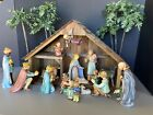 Hummel 16pc 214 size NATIVITY TMK 6 plus Stable and Palm Trees VG