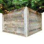 18 Square Natural Weathered Gray Christmas Tree Collar