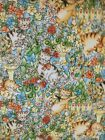 Purr Fect Garden by Exclusively Quilters cotton quilt fabric Kittens 6 yards