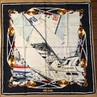 Wathne Italian silk scarf 35 square nautical never worn excellent condition