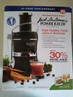 Jack LaLannes Power Juicer Express New In Box Black 10th Anniversary Edition
