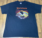 Vintage Early 2000s Rainbow Rising Rock N Roll Heavy Metal Music Band T Shirt