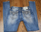 Miss Me Signature Skinny Jeans Womens Distressed Embellished Size 24x30