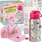 JOYIN Decorate Your Own Water Bottle and Baseball Cap with 12 Sheets Adhesive Ge