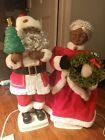 Vintage African American Animated Santa  Mrs Claus by Telco Motionettes