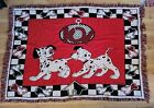 Dinsey 101 Dalmatians 6345 Woven Tapestry Beacon Made In Usa Pre Owned