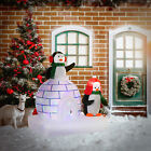 5 Light Up Penguins Outdoor Christmas Inflatable Yard Decoration w LED Lights