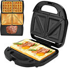 Panini Grill  Press Stainless Sandwich Maker Waffle Grill Detachable Non stick
