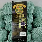 Lion Thick Quick Chenille Yarn HUGE Lot Seaspray Blue Super Bulky Discontinued