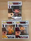 Funko POP! Freddy Krueger set of 3, Chase, 8-Bit, Exclusive, with Protectors