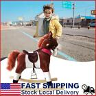 Kids Plush Toy Rocking Horse Ride On Pony Rocker with Realistic Sounds