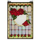 14W X 20H Morgan Rose Stained Glass Window