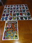 1974 MARVEL COMIC BOOK HEROES COMPLETE STICKER AND PUZZLE CARD SET (40 9) TOPPS