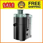Fruit and Vegetable Juice Extractor with Space Saving Design Black JE2400BD