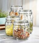 Glass Jars Set Of 4 Kitchen Canisters  By Home Essentials And Beyond  Ideal
