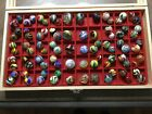 Winlock Art Glass Marbles Collection of various sizes and color configuration