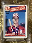 1985 Topps MARK MCGWIRE Signed Rookie Auto Autograph (DEAD CENTERED)