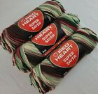 Holly  Ivy Red Heart Super Saver Yarn Lot of 3 0967 Acrylic SAME DYE LOT NOS