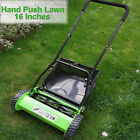 16 Inch Push Reel Lawn Mower with Grass Catcher 5 Blade Manual for Grass Cutting