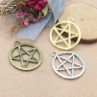 50 300 pcs accessories circular hollow five pointed star alloy pendant 2724mm
