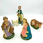 Vintage Fontanini Paper Mache Nativity Figurines 6 Italy Set of 5 Replacements