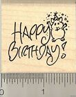 Happy Birthday Hamster rubber stamp E9611 WM Text Word