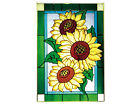 20x14 SUNFLOWER Floral Stained Art Glass Window Suncatcher