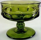 Vintage Indiana Glass Company Olive Green Kings Crown Pattern 3