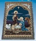 50x60 NATIVITY Christmas Tapestry Afghan Throw Blanket