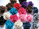 10 Cute Felt 1 Rose 4D Flower Applique christmas bow U PICK D009