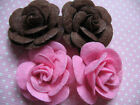 10 Felt 15 Rose 4D Flower Applique christmas bow 2 colors D009 1