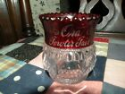 ANTIQUE EAPG RUBY FLASH TARENTUM GLASS COLUMBIA TOOTHPICK HOLDER ENGRAVED