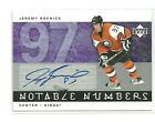 2005 6 UD JEREMY ROENICK NOTABLE NUMBERS AUTO AUTOGRAPH 85 97