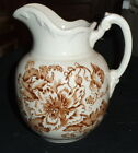Antique Ironstone Brown Floral Transferware 6