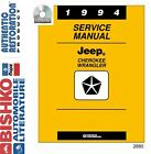 1994 Jeep Cherokee Wrangler Shop Service Repair Manual CD Engine Drivetrain OEM