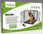 EliteField 2 Door Folding Dog Crate w RUBBER FEET Cage Kennel 5 Sizes 10 Models