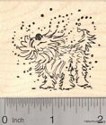 Wet Dog Rubber Stamp Summer Fun at the Pool J18111 WM